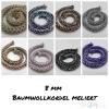 BAUMWOLLKORDEL MELIERT  -8MM-