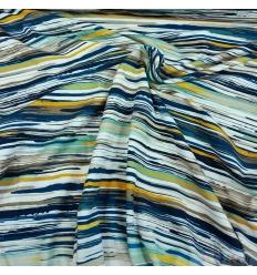 JERSEY STRIPS BLUE-YELLOW 0.5M