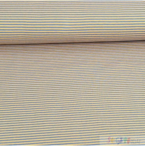 JERSEY YELLOW - BLUE STRIPS 0.5M