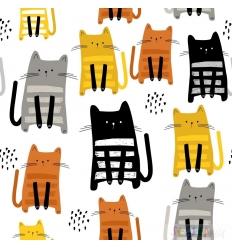 """JERSEY """"PETS"""" CATS FAMILIE 0.5M"""