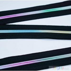 ENDLOS REIßVERSCHLUSS  2m  +10 Zipper -Regenbogen Farbverlauf