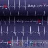 BAUMWOLLE KEEP SMILING,EKG  blau 0.5M
