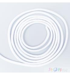 GUMMIKORDEL 2.2mm (1m)  weiß
