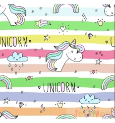 JERSEY unicorn rainbow 0.5M