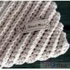 Aufnäher  Kunstleder handmade ( grau)