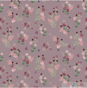 JERSEY little flowers old rose 0.5M